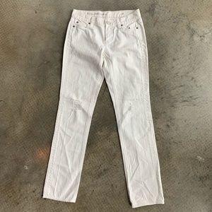 J. Crew White 'Vintage Matchstick' Jeans - 25